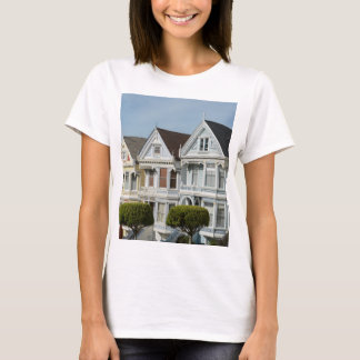 Alamo Square Victorian Houses in San Francisco T-Shirt