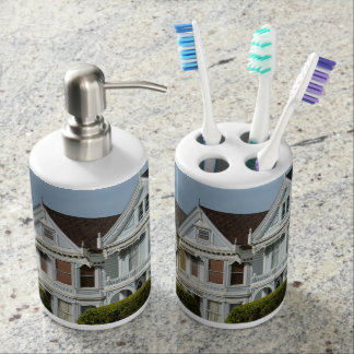 Alamo Square Victorian Houses in San Francisco Toothbrush Holder