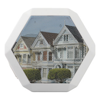 Alamo Square Victorian Houses in San Francisco White Bluetooth Speaker