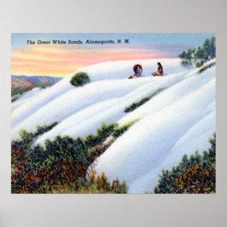 Alamogordo New Mexico White Sands National Monumen Print