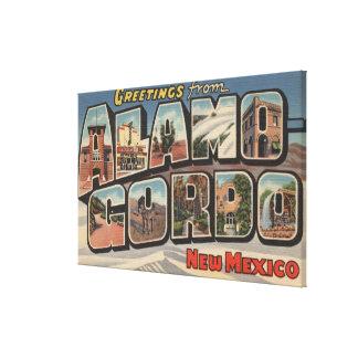 Alamongordo, New Mexico - Large Letter Scenes Canvas Print