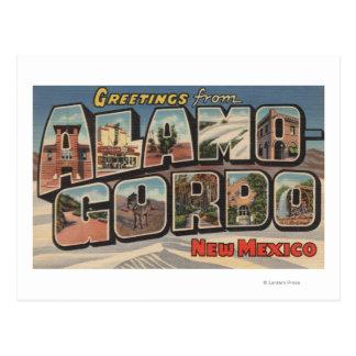 Alamongordo, New Mexico - Large Letter Scenes Postcard