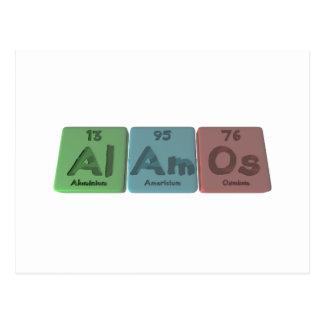 Alamos-Al-Am-Os-Aluminium-Americium-Osmium Postcards