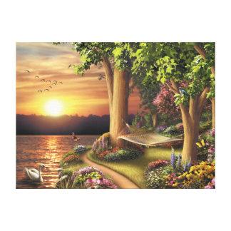 "Alan Giana ""Around the Lake"" Canvas Print"