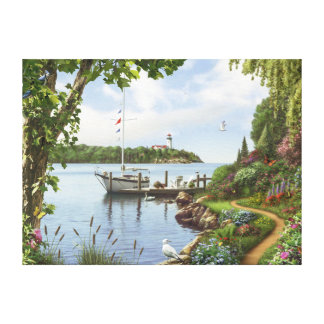 """Alan Giana """"Down by the Water"""" Canvas Print"""