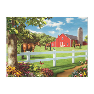 "Alan Giana ""Pastures of Chance 2"" Canvas Print"