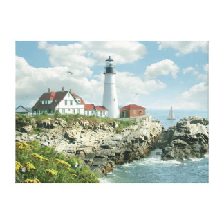 "Alan Giana ""Portland Head Light"" Canvas Print"