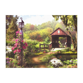 "Alan Giana ""The Covered Bridge"" Canvas Print"