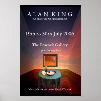 Alan King - Peacock Exhibition Poster