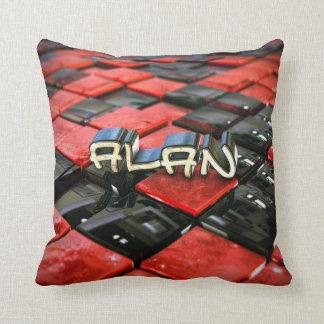 Alan on Check Cushion