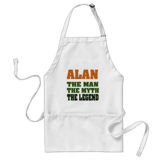 Alan - the Man the Myth the Legend Aprons