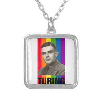 Alan Turing Silver Plated Necklace