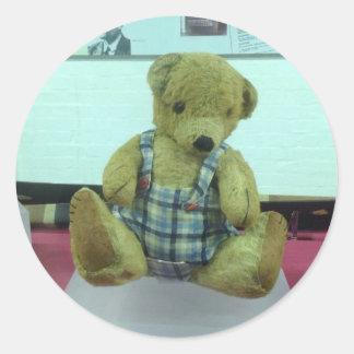 Alan Turing's Teddy Bear Classic Round Sticker