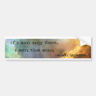 alan watts bumper sticker