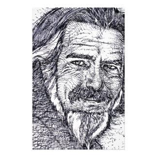 ALAN WATTS - ink portrait Stationery