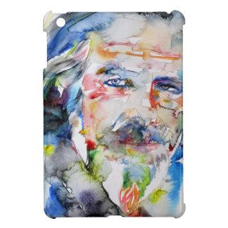 alan watts - watercolor portrait.3 iPad mini case
