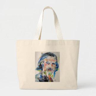 alan watts - watercolor portrait.3 large tote bag