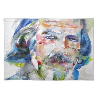 alan watts - watercolor portrait.3 placemat