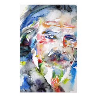 alan watts - watercolor portrait.3 stationery