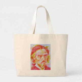 ALAN WATTS - watercolor portrait.4 Large Tote Bag