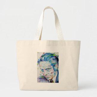 ALAN WATTS - watercolor portrait.5 Large Tote Bag