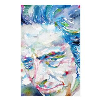ALAN WATTS - watercolor portrait.5 Stationery