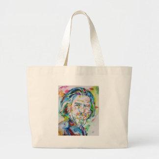 ALAN WATTS - watercolor portrait.6 Large Tote Bag
