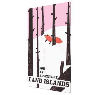 Åland Islands, Finland travel poster Canvas Print