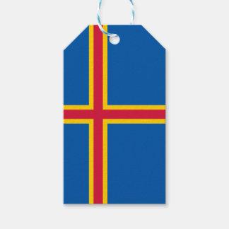 Aland Islands Flag Gift Tags
