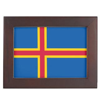 Aland Islands Flag Keepsake Box