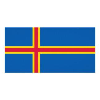 Aland Islands Flag Photo Greeting Card