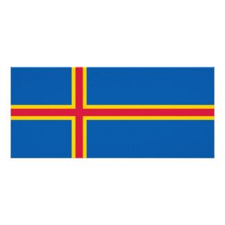 Aland Islands Flag Rack Card