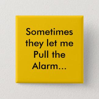 alarm 15 cm square badge
