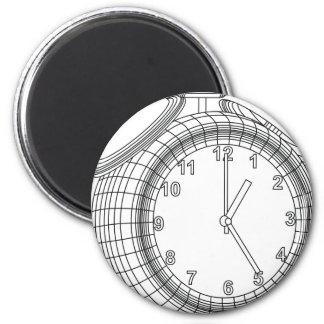 alarm clock 6 cm round magnet