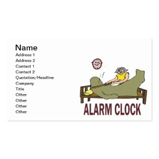 Alarm Clock Pack Of Standard Business Cards