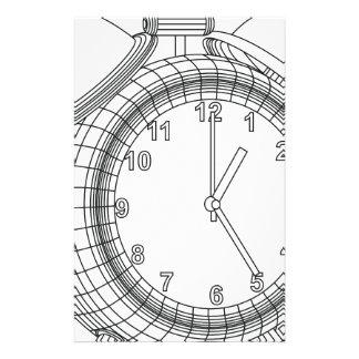 alarm clock personalized stationery