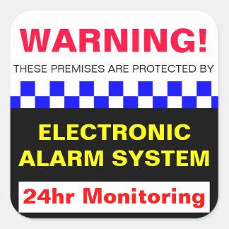 Alarm Warning Sticker
