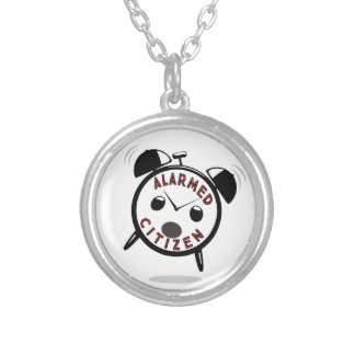 ALARMED CITIZEN SILVER PLATED NECKLACE
