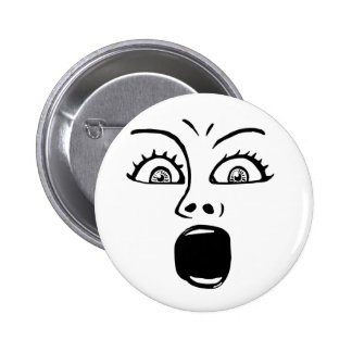 ALARMED! - White 6 Cm Round Badge