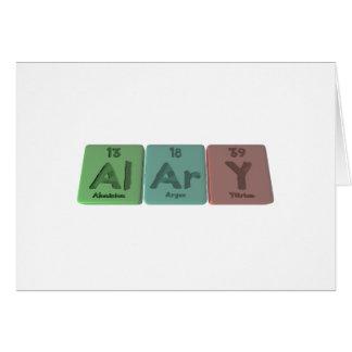Alary-Al-Ar-Y-Aluminium-Argon-Yttrium Greeting Card