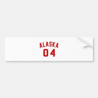 Alaska 04 Birthday Designs Bumper Sticker