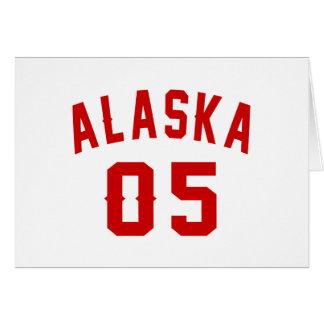 Alaska 05 Birthday Designs Card