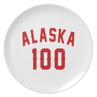 Alaska 100 Birthday Designs Dinner Plate