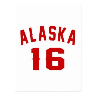 Alaska 16 Birthday Designs Postcard