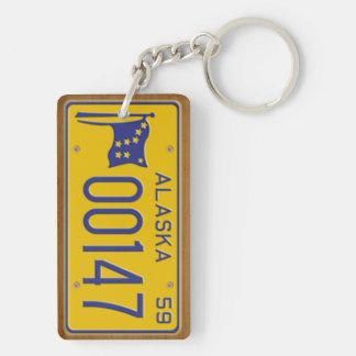 Alaska 1959 Vintage License Plate Keychain Acrylic Keychain