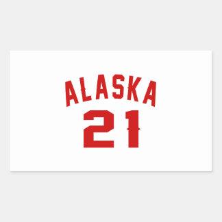 Alaska 21 Birthday Designs Rectangular Sticker