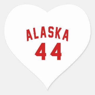Alaska 44 Birthday Designs Heart Sticker