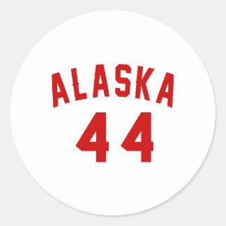 Alaska 44 Birthday Designs Round Sticker