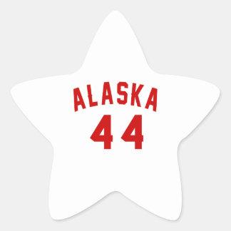Alaska 44 Birthday Designs Star Sticker