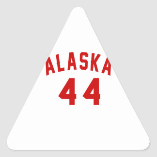 Alaska 44 Birthday Designs Triangle Sticker